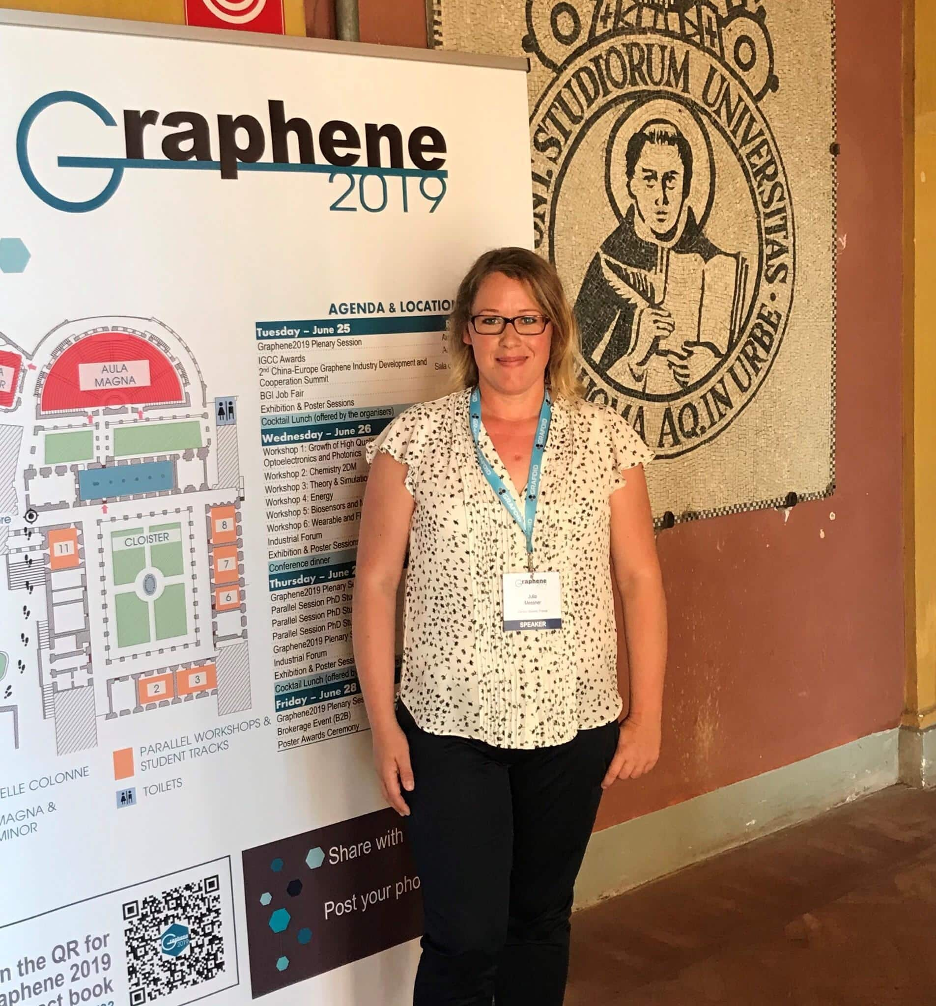 Carbon Waters invited to graphene conference 2019 in rome