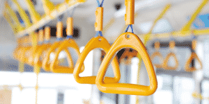 Bus handle sanitary coatings